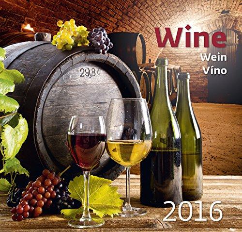 Wine Wall Calendar 2016 -Vino Calendar - Gourmet Calendar - Poster Calendar - Food & Drink Calendar By Helma