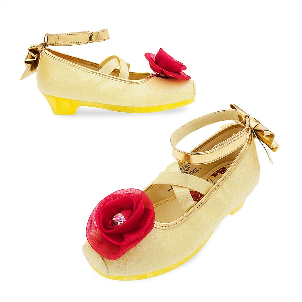 Disney Belle Costume Shoes for Kids Size 2/3 Yellow 428435743581