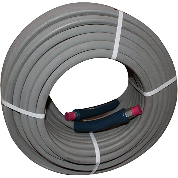 """100/' Pressure Washer Hose 3//8/"""" 4000psi  w// Quick Connects 100 ft Black"""