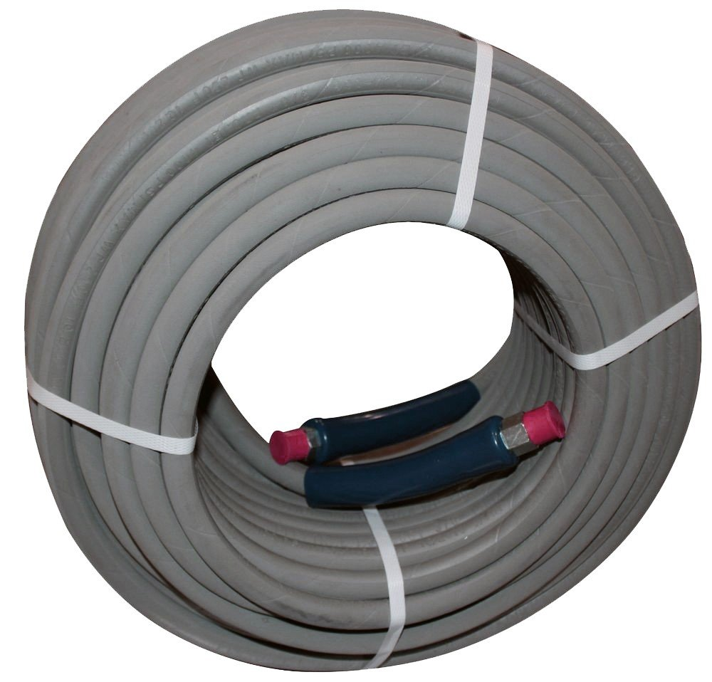 100 ft 3/8'' Gray Non-Marking 4000psi Pressure Washer Hose by PressurePro