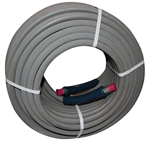 """100 ft 3/8"""" Gray Non-Marking 4000psi Pressure Washer Hose"""