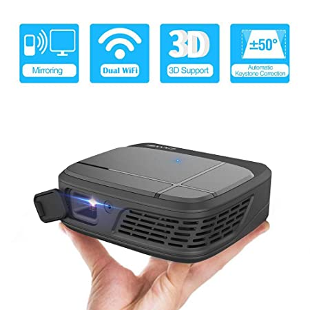 JJZXZQ Proyector 4K WiFi Inalámbrico 1080P HD, 3300 Lúmenes ...