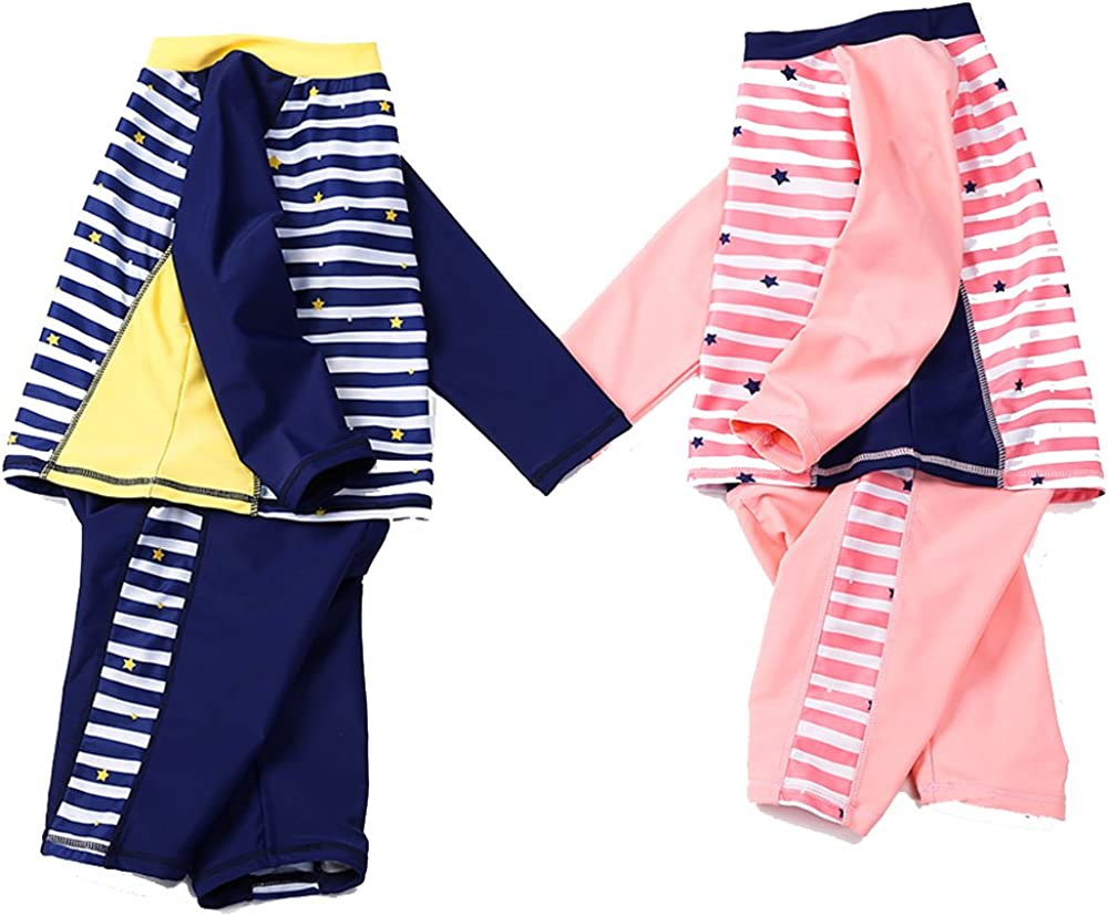 QRH Little Girls 3 Piece Rashguard Swim Set