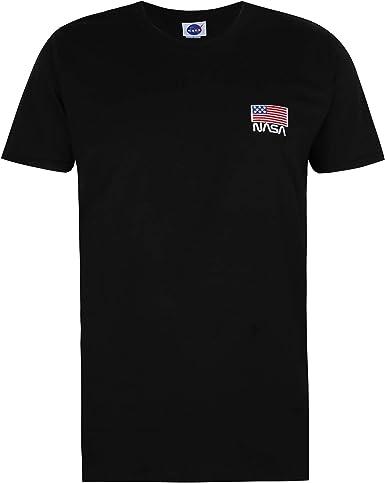 Nasa Flag Embroidery Camiseta para Hombre: Amazon.es: Ropa y accesorios