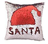 Muse Creation Sequence Magic Cushion Cover 16*16 inch with filler in Velvet - Pillow Shams - Red and Silver Sofa Comfy cushion, personalized cushion,sofa cushion,car cushion, children's day gift, Christmas gift