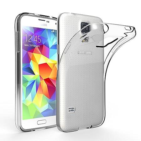 EasyAcc Hülle Case für Samsung Galaxy S5, Dünn Crystal Clear Transparent Weich Handyhülle Cover Soft Premium-TPU Durchsichtig