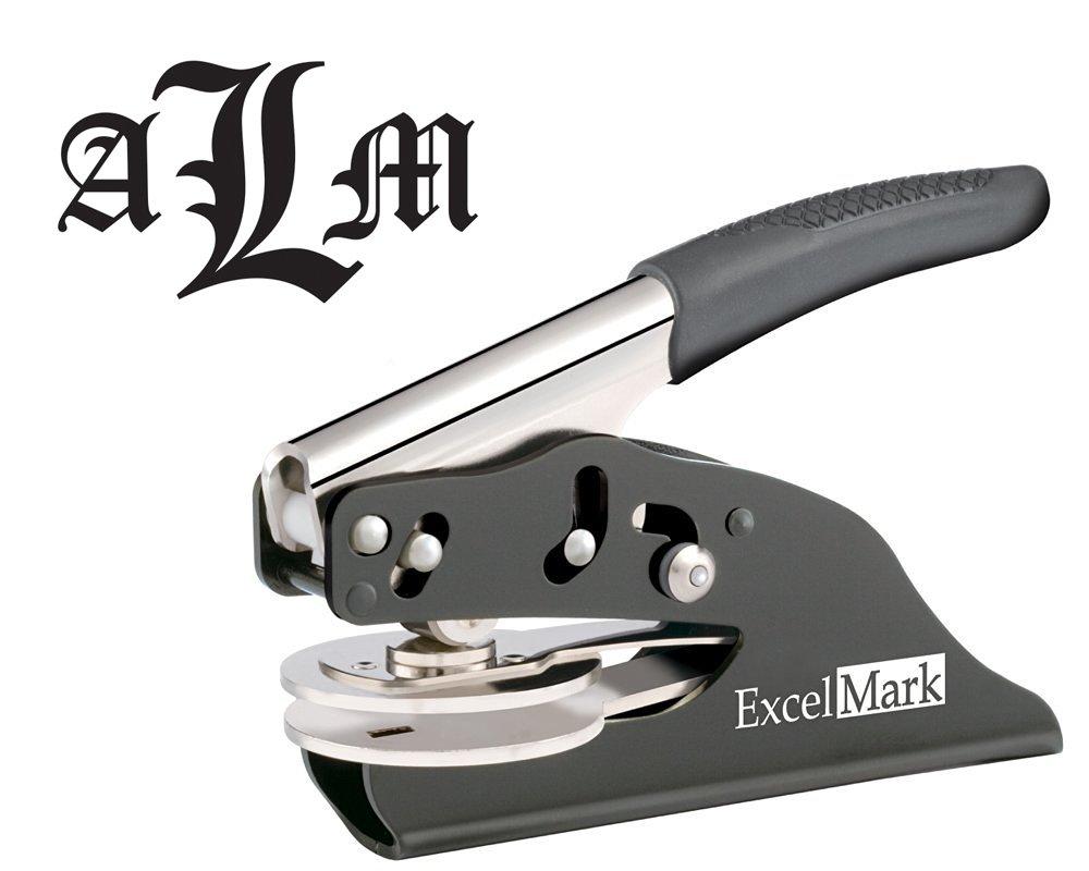 ExcelMark Hand Held Embosser - Monogram Gift Embosser - Style 55 by ExcelMark