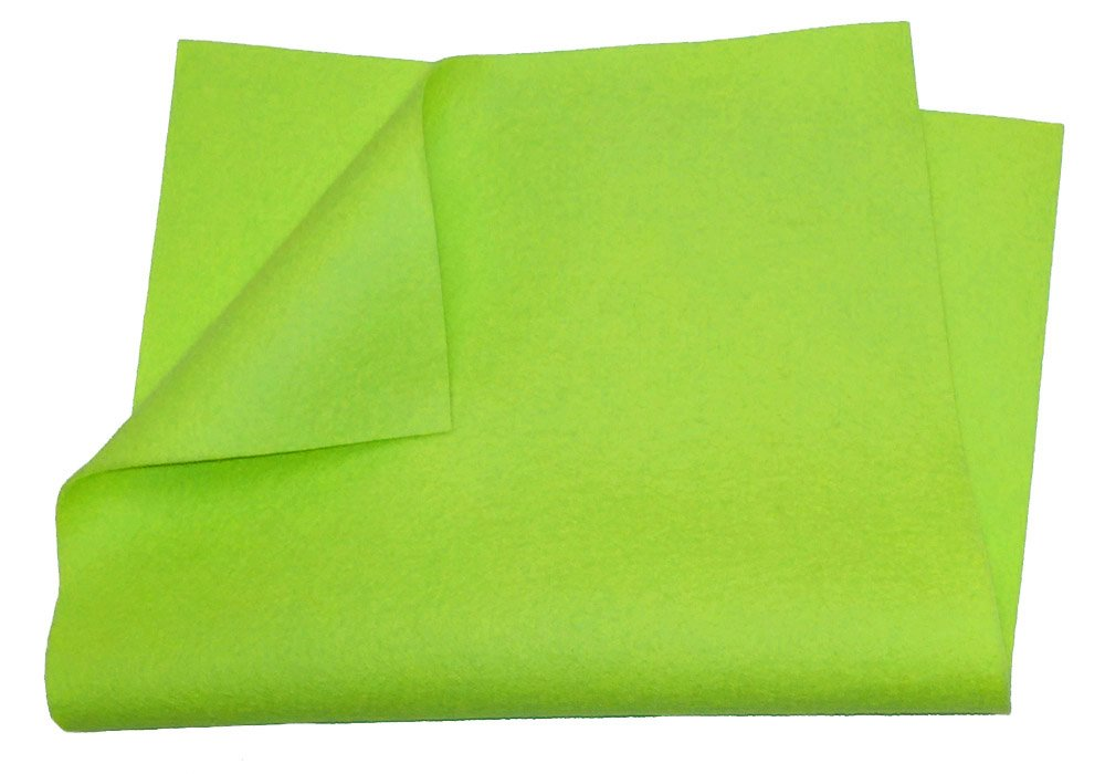 "100% Merino Wool Craft Felt - 8"" x 12"" sheet - LIME Weir Crafts 457-lime"