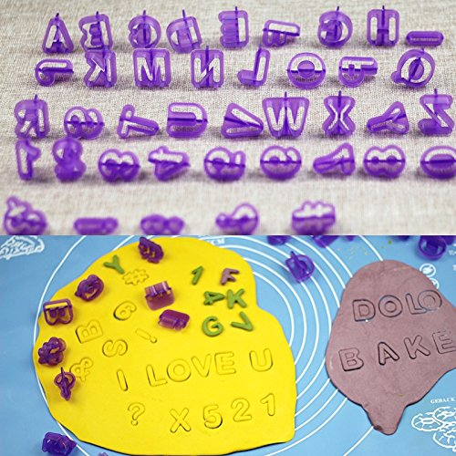 JD Million shop Cheap 40pcs/Set Alphabet Letter Number Cake Cutter Decorative Tools Fondant Cake Biscuit Baking Mould Cookie Cutter - Buffs Cheap Glasses