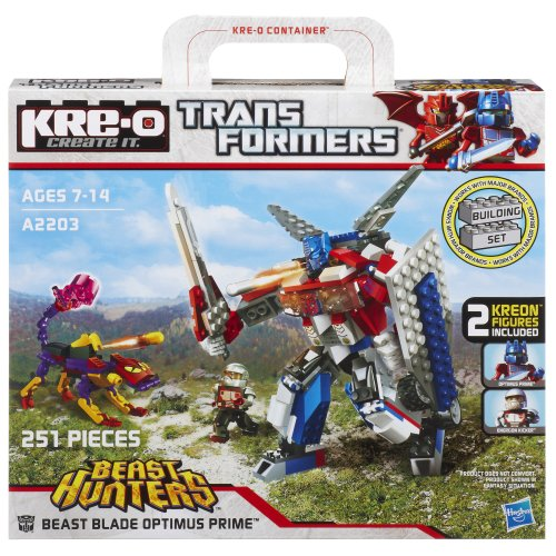 KRE-O Transformers Beast Hunters Beast Blade Optimus Prime Set (A2203) (Transformers Prime Toys Optimus Prime Beast Hunters)