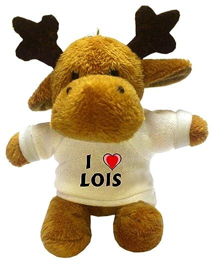 Reno de peluche (llavero) con Amo Lois en la camiseta ...
