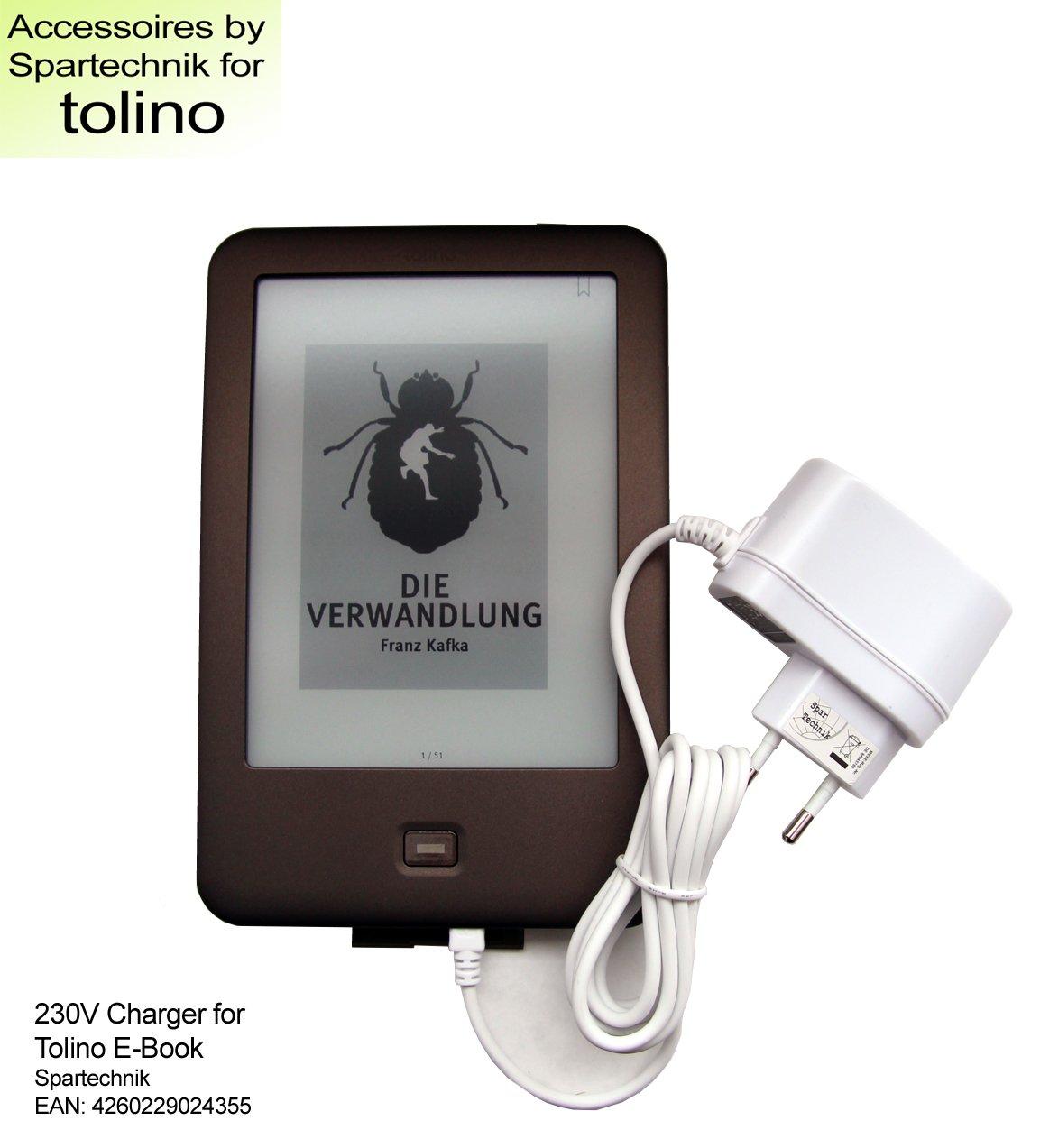 Spartechnik - Cable cargador para eBook Tolino shine (110 a 240 V ...
