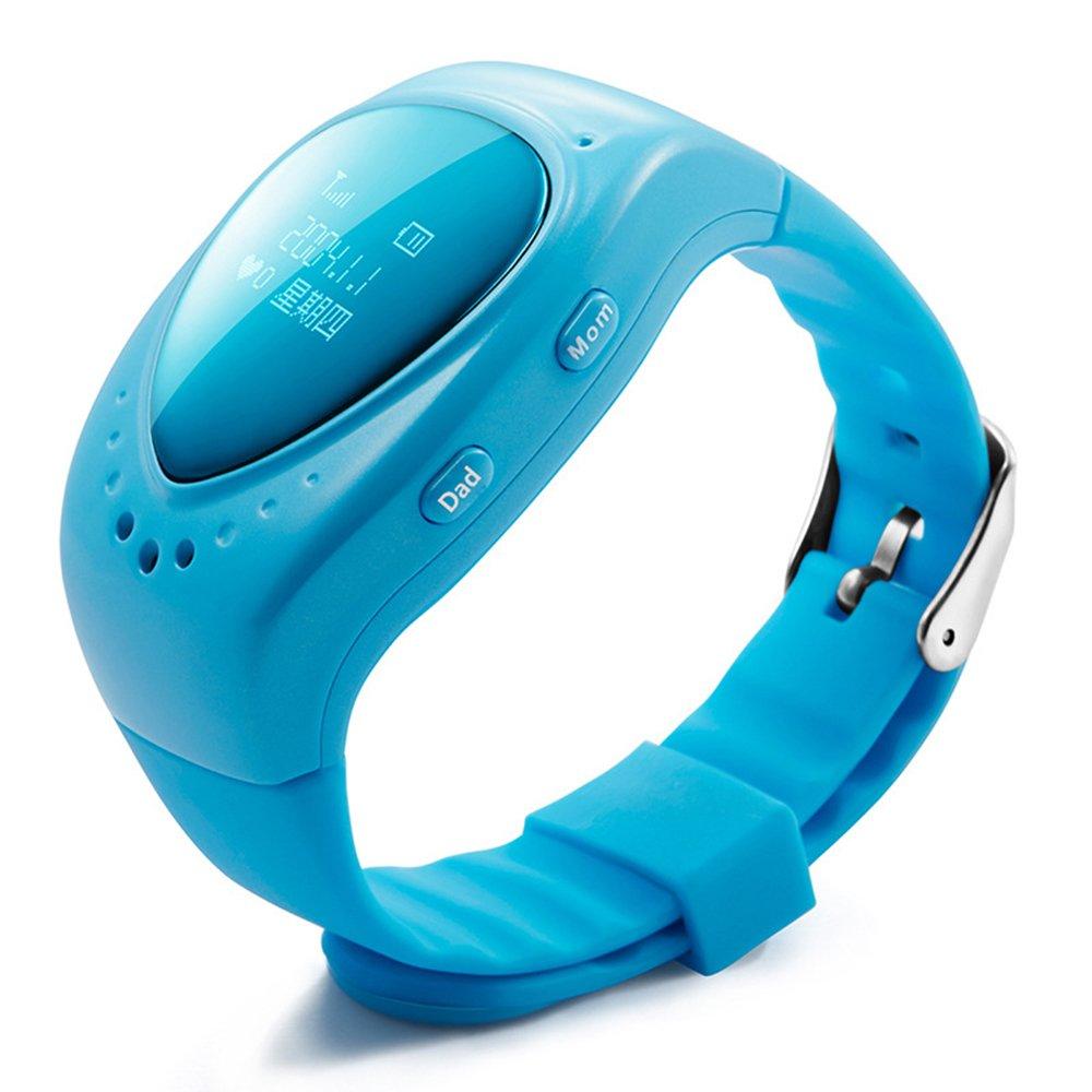 turnmeon Smart muñeca reloj GSM/GPRS Tiempo Real de seguimiento de alarma resistente al agua para niños niño con Google mapa de la tarjeta SIM llamada ...