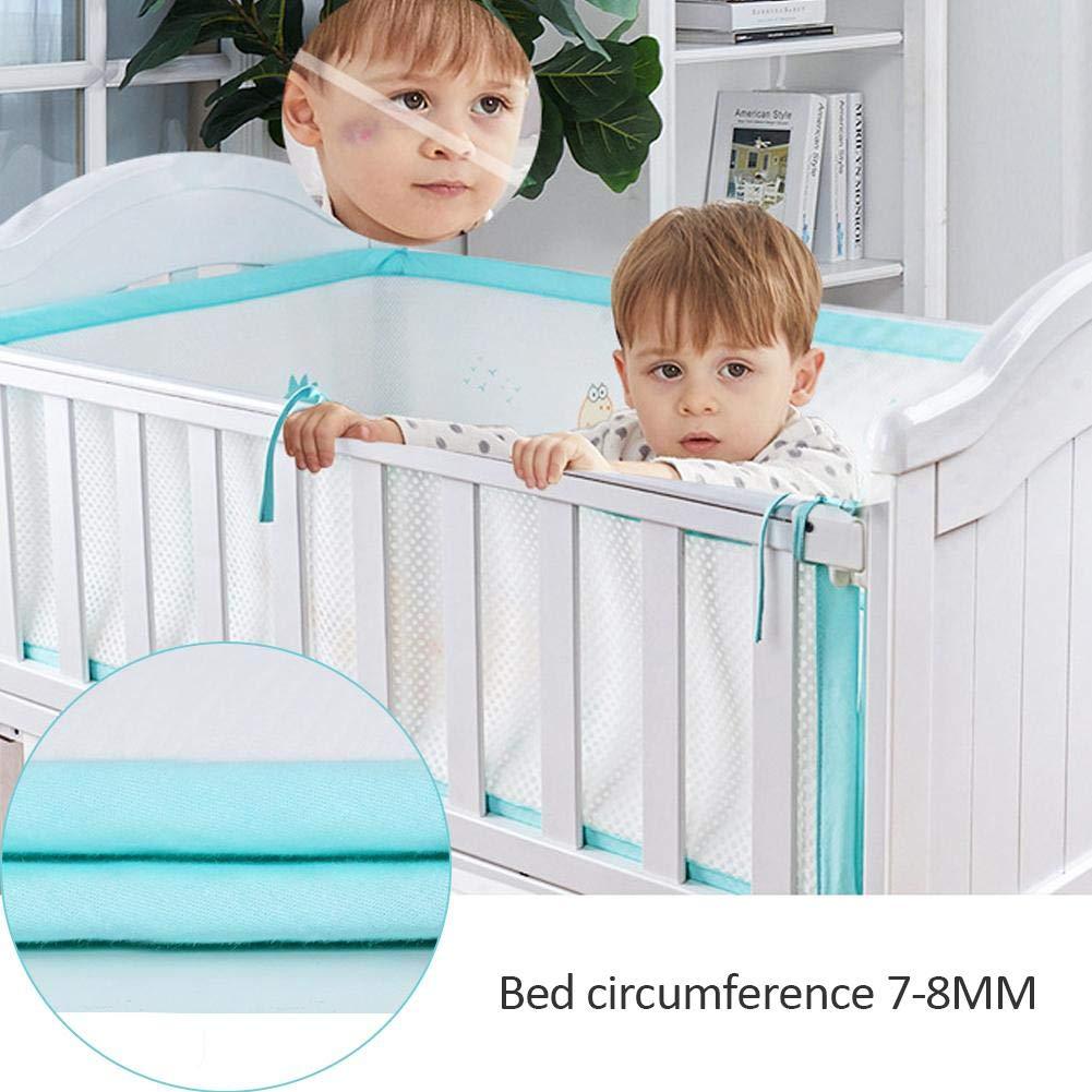 genialkiki 3D Respirant Tour de lit Nid T/ête Protection Tour de lit /équipement de lit Tour de lit b/éb/é Protection des Bords