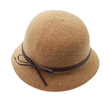 706e35ba1dd Image Unavailable. Image not available for. Color  Women s Winter Wool Felt Fedora  Hat ...