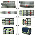 """NaturalRays 80×60""""Family Picnic Blanket with Tote, Extra Large Foldable and Waterproof Camping Mat for Outdoor Beach Hiking Grass Travel"""