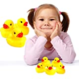 Toy Cubby Adorable Squeaking Rubber Duckies - 24 pieces