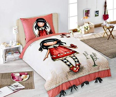Copripiumino Letto Singolo Bambina.Bambina Bambola Vestito Rosso Farfalle Set Letto Singolo