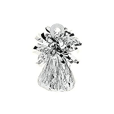 Amscan 112725.18 Foil Balloon Weight, 6 oz, Silver: Childrens Party Decorations: Kitchen & Dining [5Bkhe0300285]
