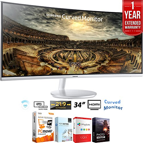 """Samsung 34"""" CF791 3440x1440 Curved 21:9 Widescreen Monitor +"""