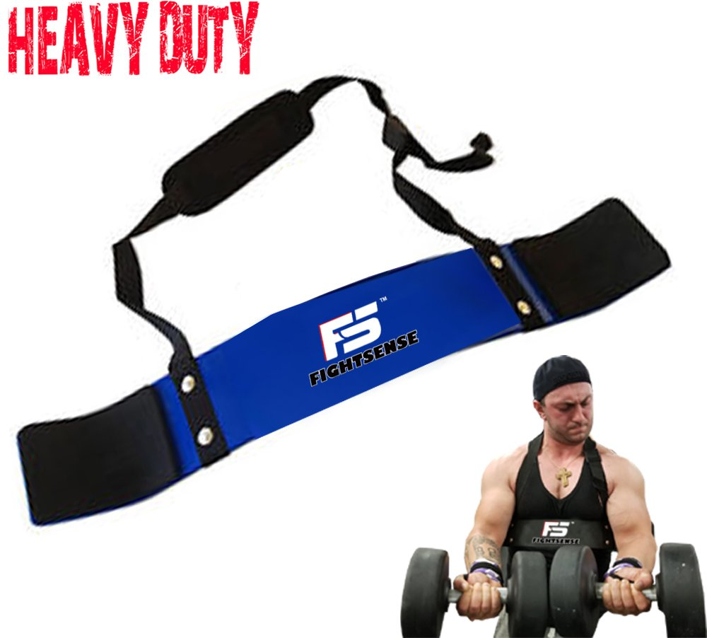 SF Arm Blaster Biceps Curl Triceps Muscle Isolator Bomber Fitness Gym Workout Training Support New (Blue)