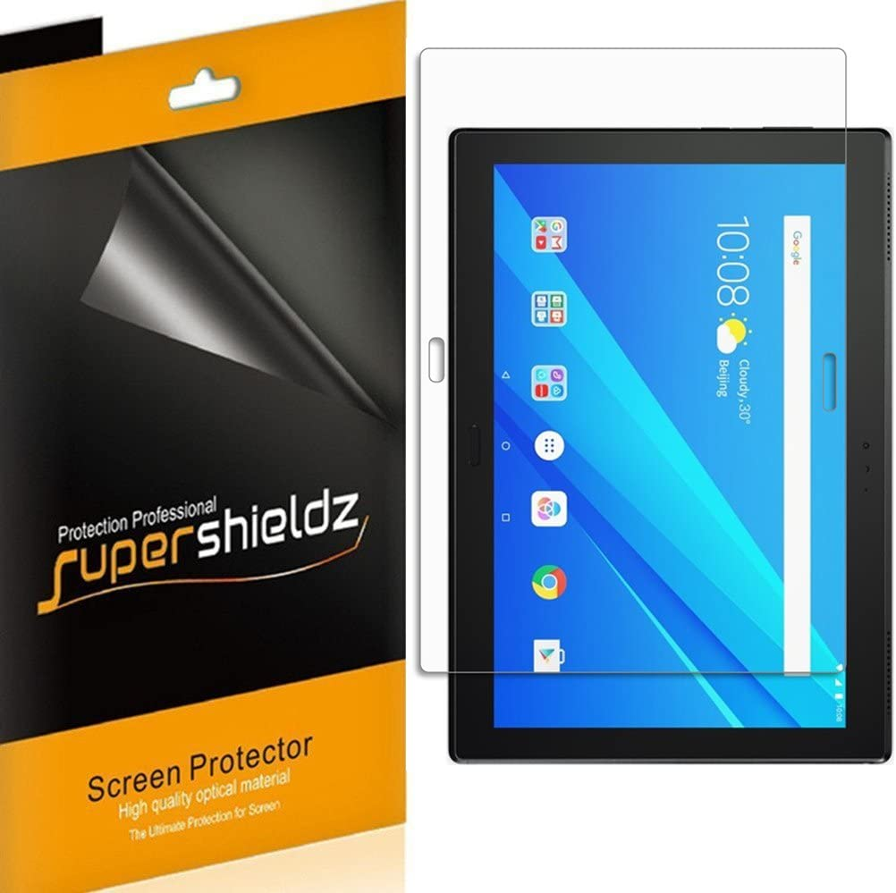 Supershieldz (3 Pack) for Lenovo (Tab 4 10 Plus) 10.1 inch Screen Protector, 0.23mm, High Definition Clear Shield (PET)
