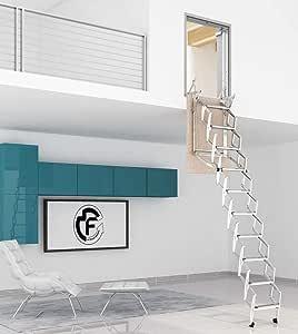Escalera Escamotable Pared retráctil manual de pared, varios tamaños, escalera, lado 70: Amazon.es: Bricolaje y herramientas
