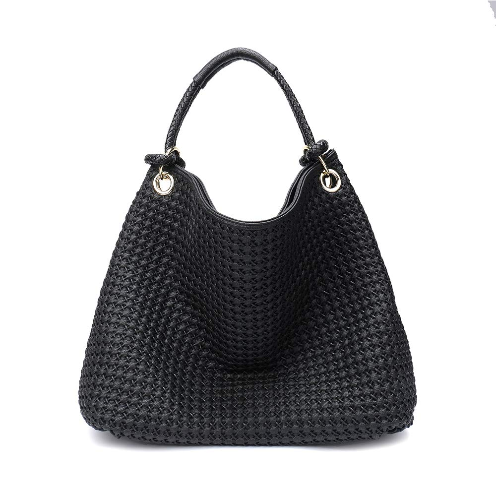 Lanyani Hobo Purses Large Handbags Fashion Shoulder Bags Designer Hand-Woven Tote for Women and Ladies Faux Leather