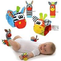 YISET Infant bébé Peluche poignet Hochets Chaussettes développement Sozzy-hot 4pcs