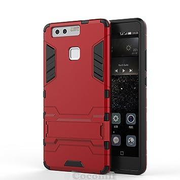 Cocomii Iron Man Armor Huawei P9 Funda [Robusto] Superior Táctico Sujeción Soporte Antichoque Rígido