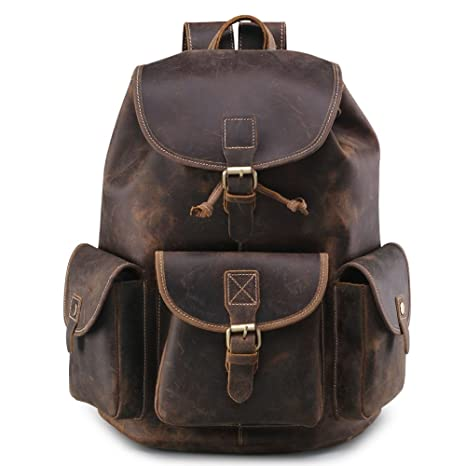 Amazon.com | Teemzone Mens Boys Crazy Horse Leather Casual Messenger Satchel School Bag (Coffee) | Messenger Bags