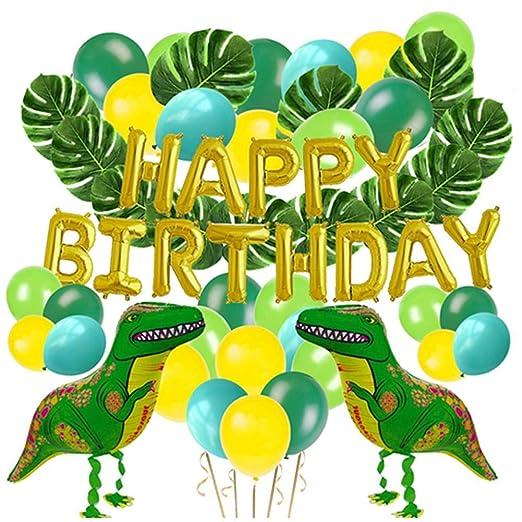 Globos de cumpleaños Decoraciones Fiesta Niños, Dinosaurio ...
