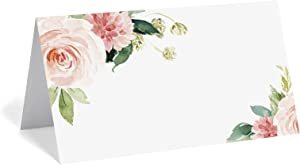 Bliss Collections Wedding Reception Place Cards - Pack of 50 Boho Floral Cards, Great Addition to Your Table Centerpiece, Place Setting and Wedding Decorations, Each 2 x 3.5