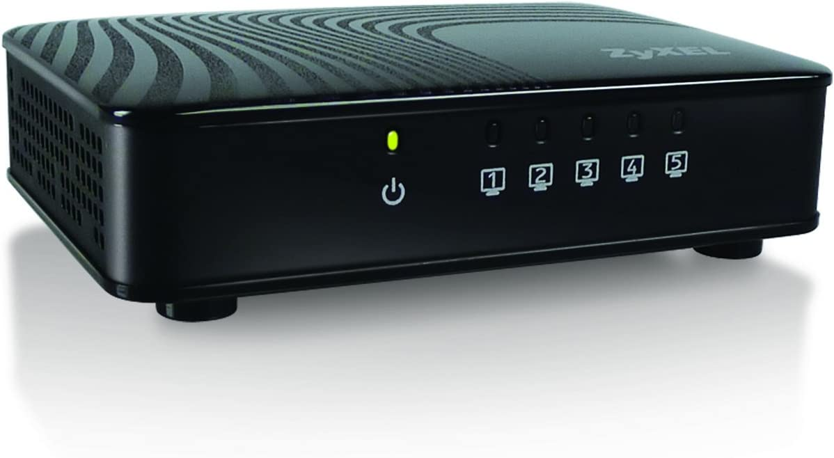 ZyXEL 5-Port Gigabit Ethernet Switch for Gaming and Media [GS105SV2]