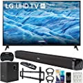 LG 70UM7370PUA 70-inch 4K HDR Smart LED IPS TV with AI ThinQ (2019) Bundle with Deco Gear 60W Soundbar with Subwoofer, Wall Mount Kit, Deco Gear Wireless Keyboard and 6-Outlet Surge Adapter