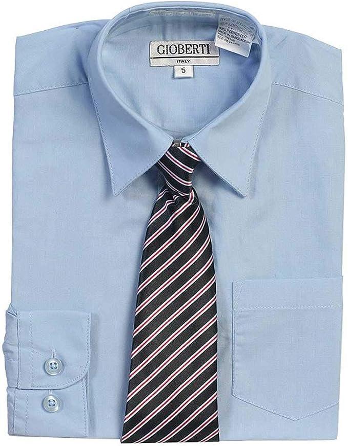 Luz Botón Azul hasta vestido camisa corbata a rayas Set Niños 5 ...
