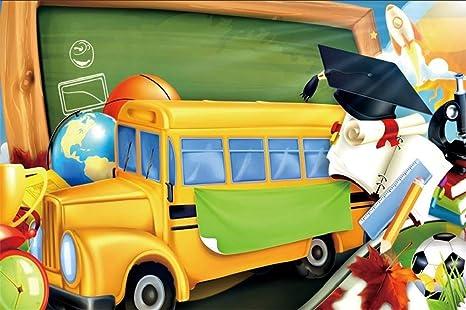 MMPTn 5x3ft Dibujos Animados Autobús Escolar Volver a la Escuela ...