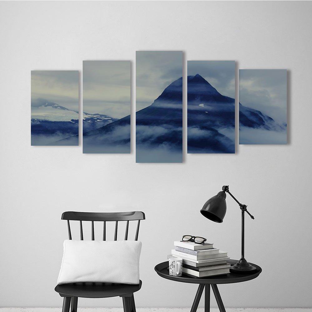 Wulian Painting Combination Frameless Mountain in Alaska,Valdez,USA Restaurant Bedroom Painting
