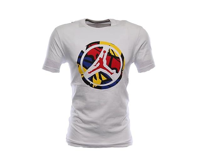 2f8fd4e1640dc3 Amazon.com  Nike Air Jordan 8 Wheeler Mens T-Shirt 534774-101 White XXL   Clothing