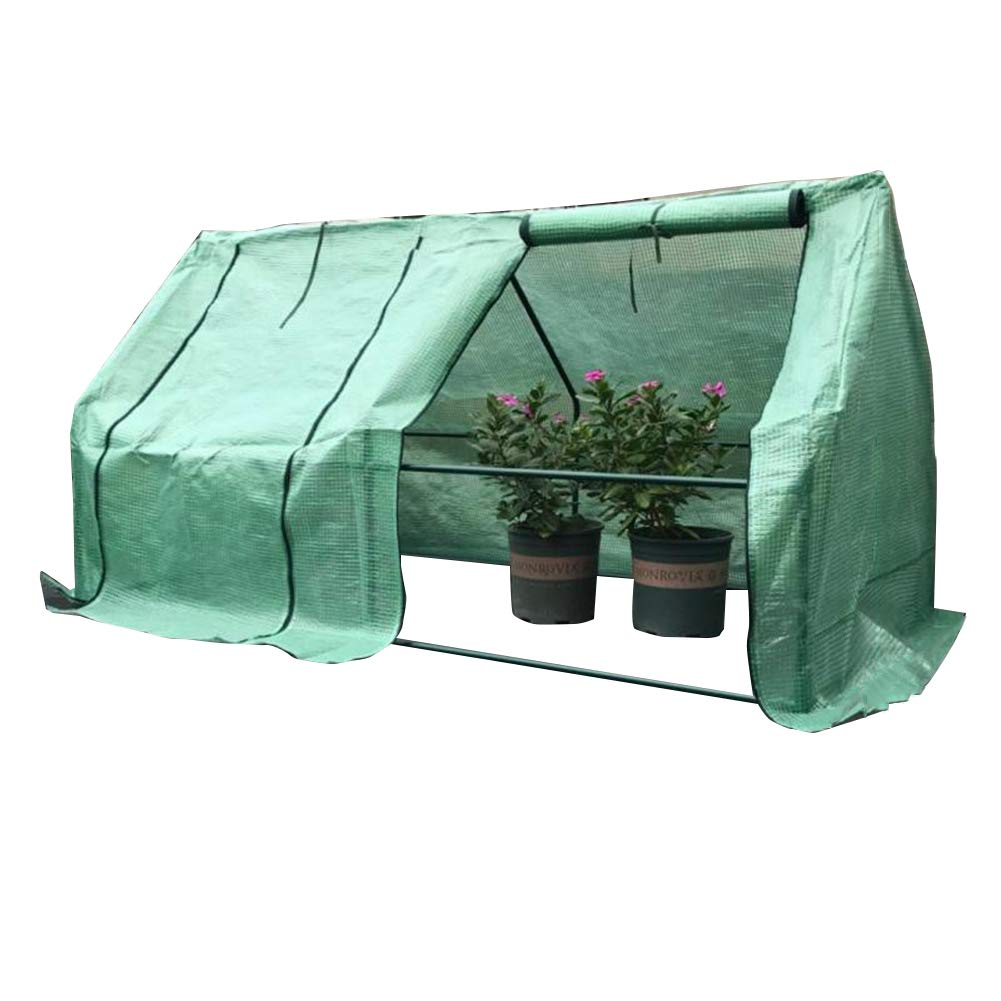 GREEN 180x90x90cm GREEN 180x90x90cm LIANGLIANG-Greenhouses Gardening Extra Large Plant Rainproof Heat Preservation Roller Blind 2-door Design PE Plastic Tear Resistance, 2 Styles (color   GREEN, Size   180x90x90cm)