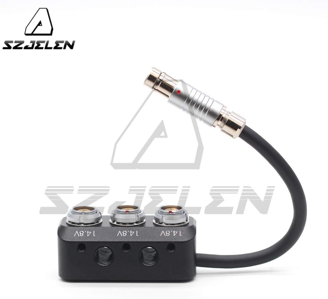 Hirose 4PIN to 2PIN SZJELEN Hirose 4pin to 0B 2pin Female Power Splitter for Camera Power Supply 2Pin Power Splitter Cable