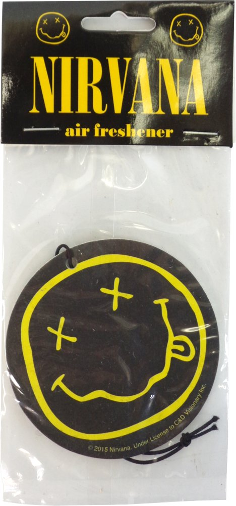 Nirvana Band Smiley Face Coconut Scent Auto Office Air Freshener   Amazon.ca  Home   Kitchen 79c3cfad3