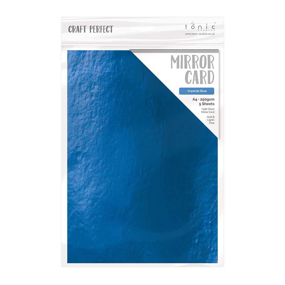 Craft Perfect High Gloss Mirror Card A4 Imperial Blue