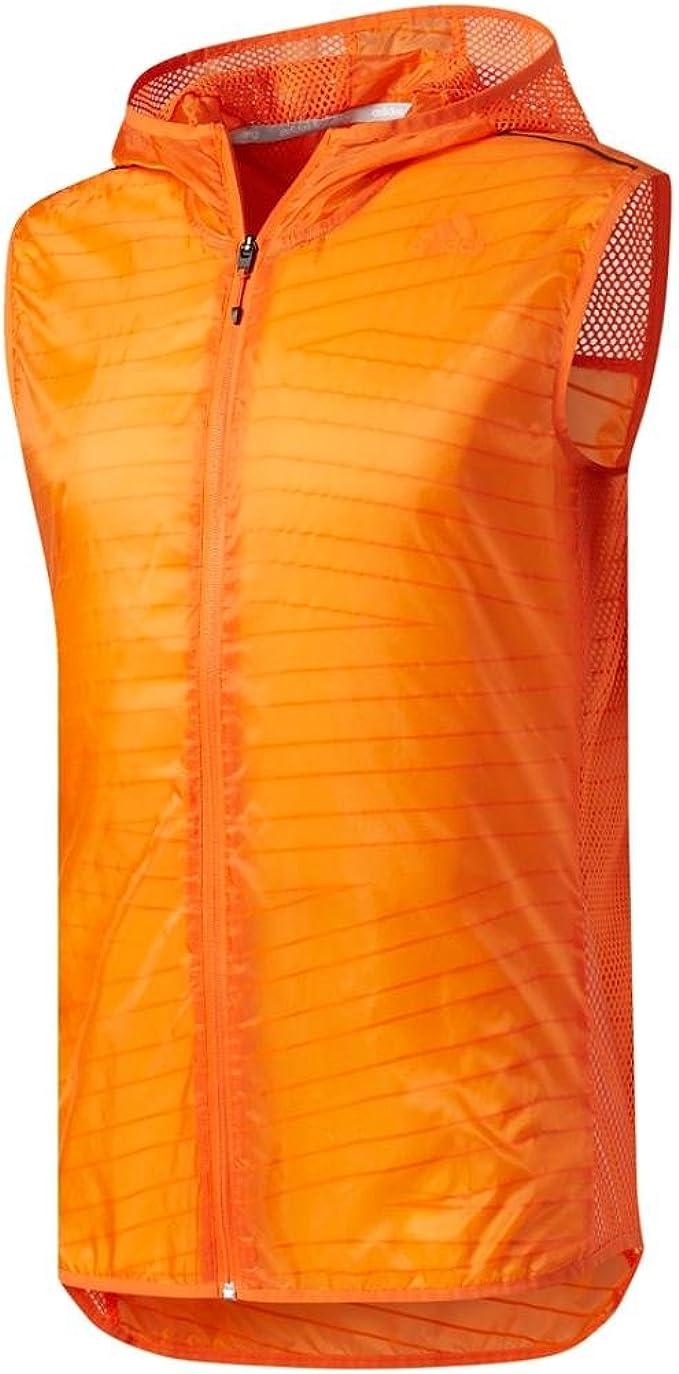 Cerdo Cariñoso latitud  Amazon.com : adidas Men's Running Tokyo Vest, Energy Orange, Large :  Clothing