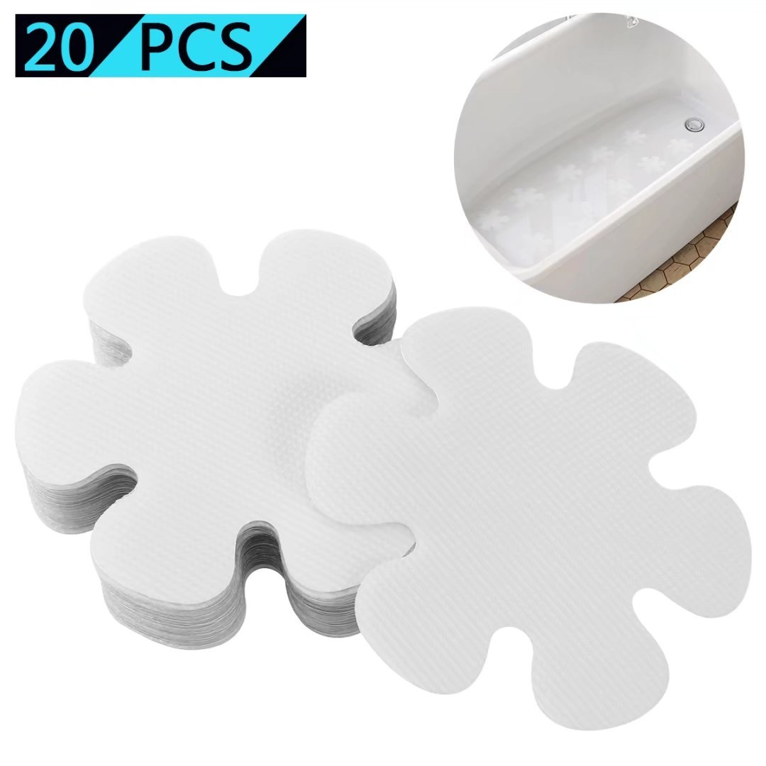 20PCS Anti-Slip Strip - Flower Shape Bathroom Safety Appliques, Prevent Slipping for Child,PEVA 10CM Anti-Slip Stickers & Decals for Floor,Pool,Bathroom