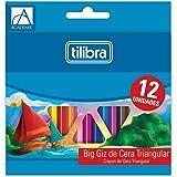 Giz de Cera 12 Cores Big Triangular Académie,Tilibra - 1 un