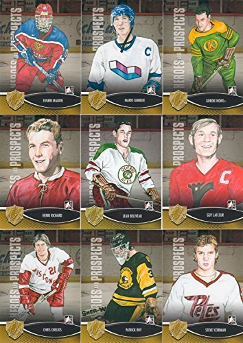 e Heroes and Prospects NHL Hockey Series Complete Mint Basic Hand Collated 150 Card Set with Stars and Hall of Famers Including Gordie Howe, Mario Lemieux and More (Top Hockey Prospects)