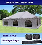 Cheap 30'x20′ PVC Pole Tent – Heavy Duty Wedding Party Canopy Shelter – with Storage Bags – By DELTA Canopies