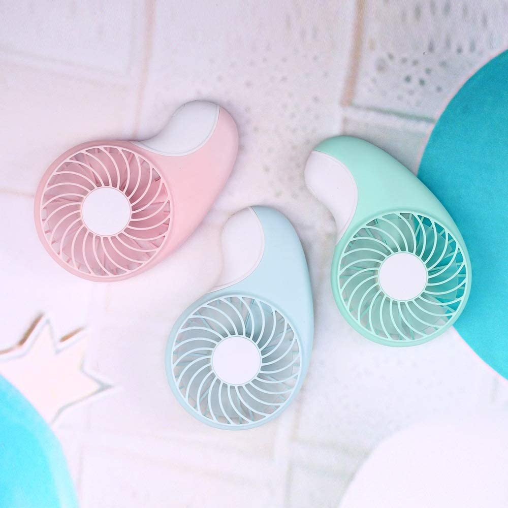 QIAOXINGXING Pocket Fan Mini Fan is Easy to Carry a Small Fan in The Pocket Color : Green