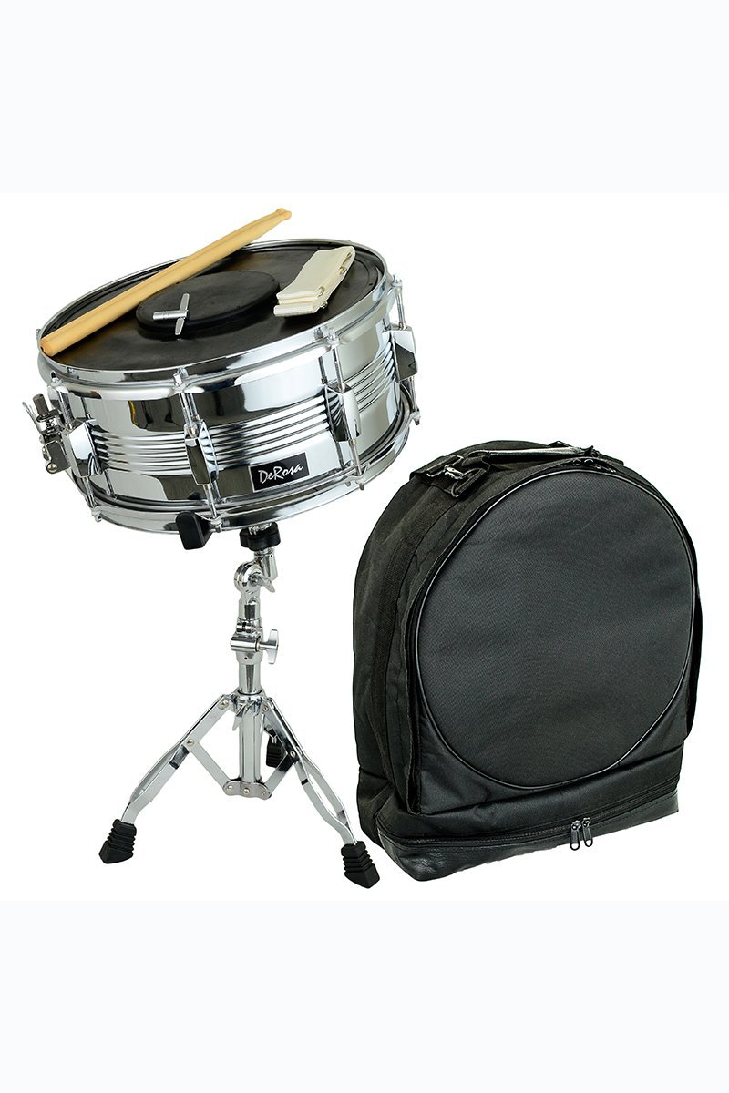 Directly Cheap Concert Snare Drum, Silver (DRMS14-SL+Free Lessons)